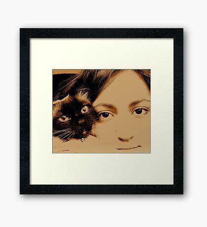 TWO GIRL s Framed Print