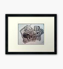 hand drawing.  Framed Print