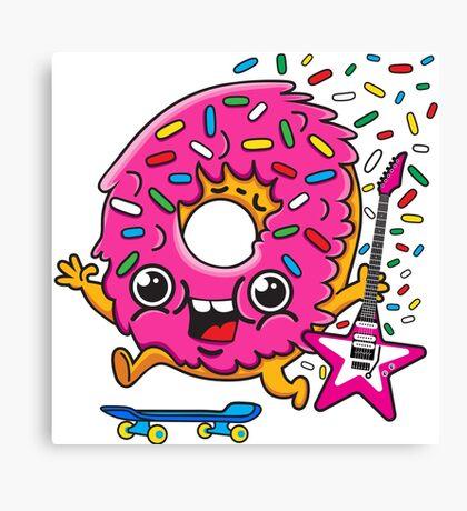 Skater Donut Rocks! Canvas Print