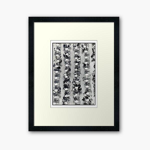 Coffee Drops Framed Art Print