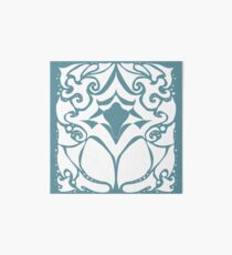 Pattern Series: White and Teal Swirl Art Board