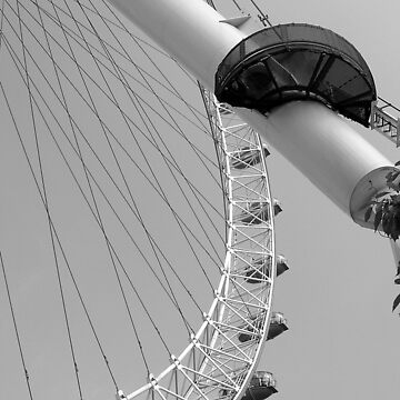 London Eye in Black and White by HybridAnglo