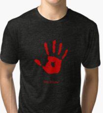 Skyrim We know Red Tri-blend T-Shirt