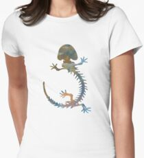 Hellbender Skeleton Womens Fitted T-Shirt