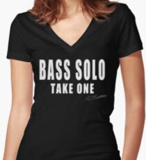 BASS SOLO TAKE ONE Women's Fitted V-Neck T-Shirt