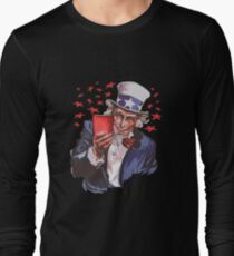 Uncle Sam Solo Cup American College Party Drinking Alcohol Long Sleeve T-Shirt
