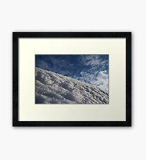 white snow on mountain slope Framed Print