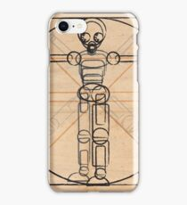 Vitruvian robot iPhone Case/Skin