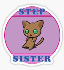 Chibi Cat - Step Sister Sticker