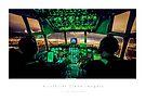 C-130 Hercules Night Landing by Kristoffer Glenn Pfalmer
