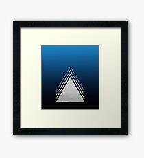 Night Sky Layered Triangles Framed Print