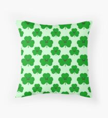 Happy Shamrock Throw Pillow