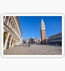 St Mark's Square, Venice Sticker