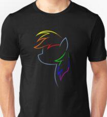 Blitz von Regenbogen Slim Fit T-Shirt