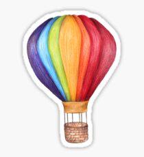 air balloon. color pencil Sticker