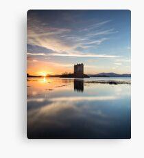 Castle Stalker Sunset Canvas Print