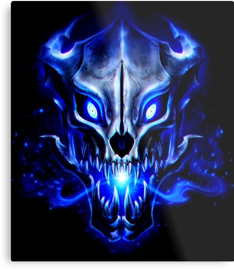 gaster blaster metal prints by thorsend redbubble