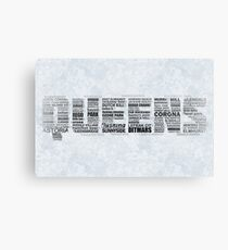 Queens New York Typography Text Canvas Print