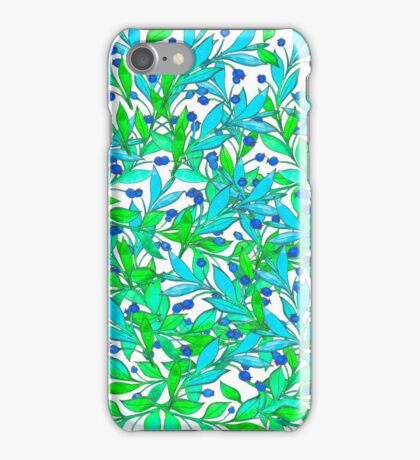 Watercolor hand drawn colorful leaves. Floral illustration. iPhone Case/Skin