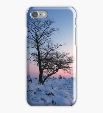 Walking in the snow landscape iPhone Case/Skin