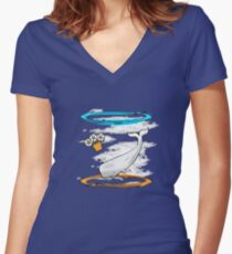 Infinite Improbability Women's Fitted V-Neck T-Shirt