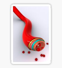 Conceptual image of a blood vessel. Sticker