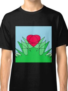 'Hearts and Flowers' Abstract Artwork Design  Classic T-Shirt