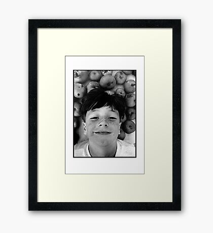 Barry and the Cooking Apples Framed Print