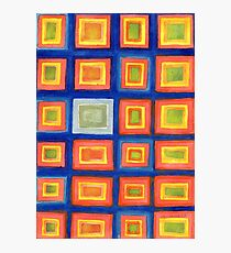 Square Pattern Beaming with Luminous Color  Photographic Print