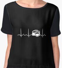 Camera Heartbeat Chiffon Top