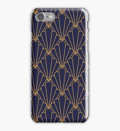 Art Deco Series - Bleu et Doré iPhone Case/Skin