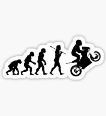 Motorbike evolution Sticker