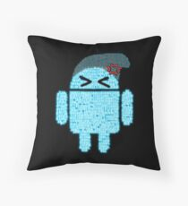 BeanieDroidv1.6 Throw Pillow