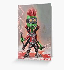 Alien Samurai Greeting Card