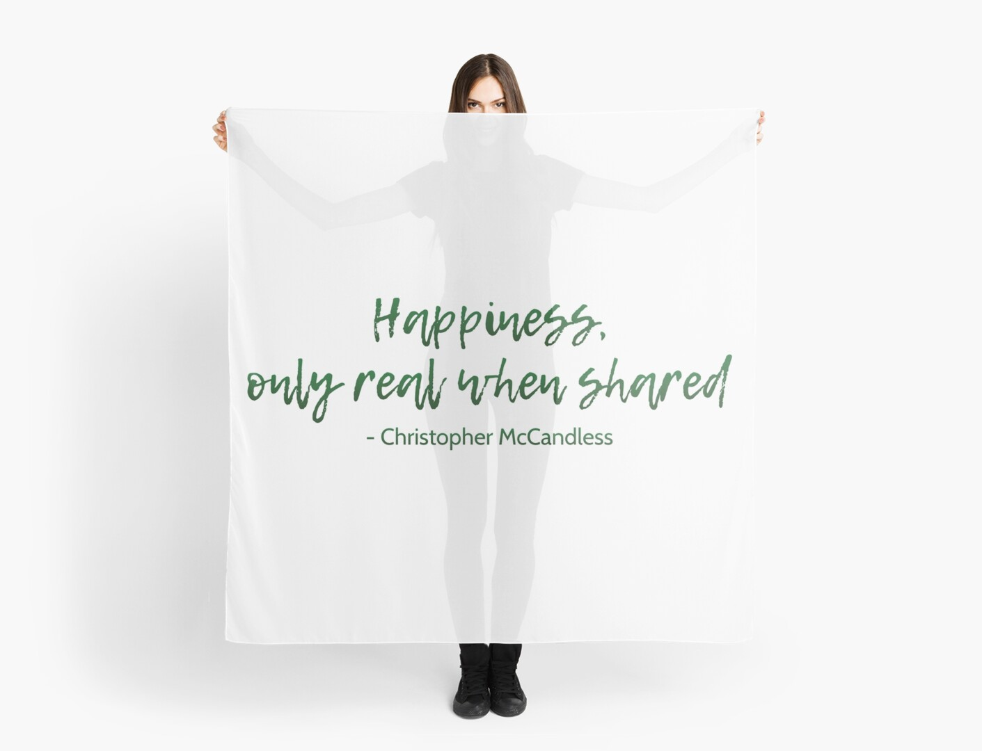 Into The Wild Happiness Quote Scarves By Movieartwork Redbubble