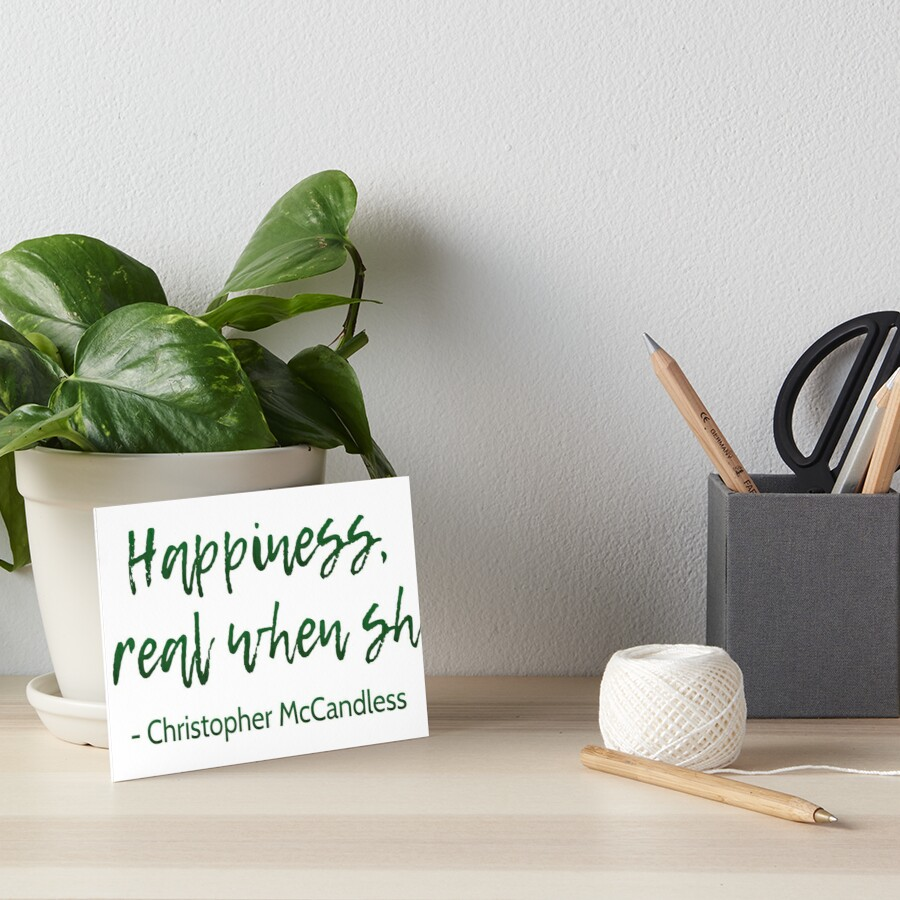 Into The Wild Happiness Quote Art Boards By Movieartwork Redbubble