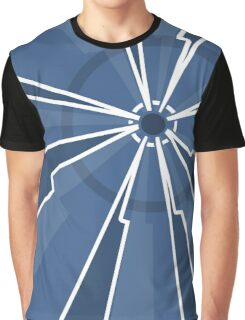 Blue Striped Art Design Graphic T-Shirt