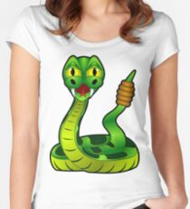 Green Rattle Snake Women's Fitted Scoop T-Shirt