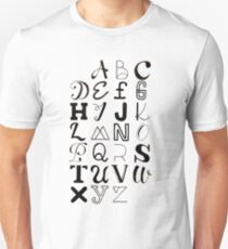 Alphabet Typography T-Shirt