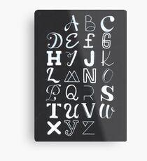 Alphabet typography Metal Print