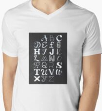 Alphabet typography Men's V-Neck T-Shirt