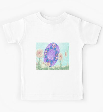Happy Easter or Pretty Foil Egg Kids Clothes