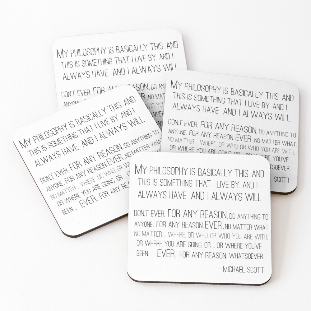 Michael Scott Philosophy Coasters (Set of 4)