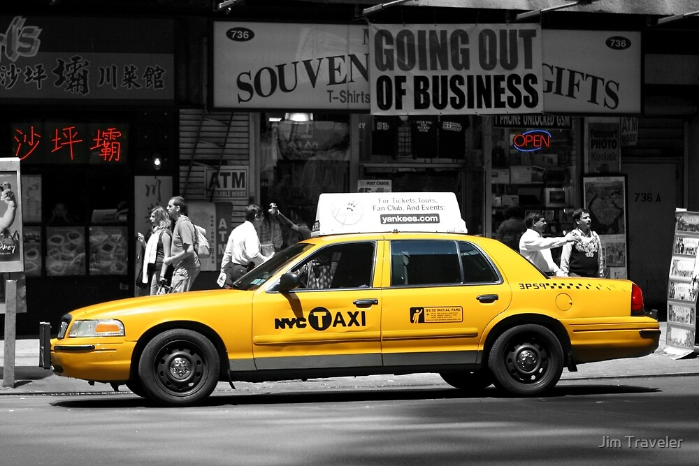 Yellow Cab - Times Square by Jim Traveler