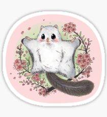 Flying Squirrel with Cherry Blossom Sticker