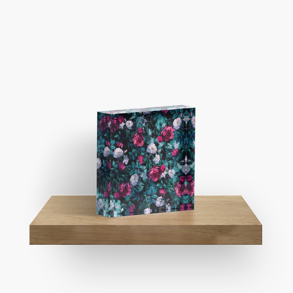 RPE FLORAL ABSTRACT III Acrylic Block