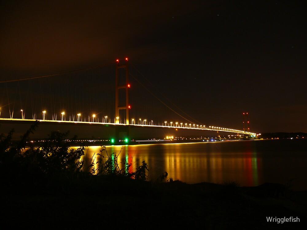 Humber Bridge lights by Wrigglefish