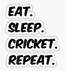 eat sleep cricket repeat Sticker