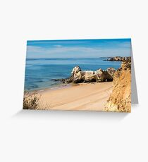 Praia da Rocha in Portimao, Algarve Greeting Card
