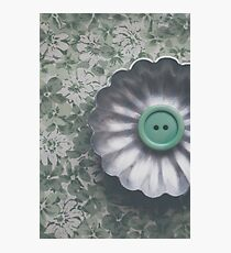Green Button Photographic Print